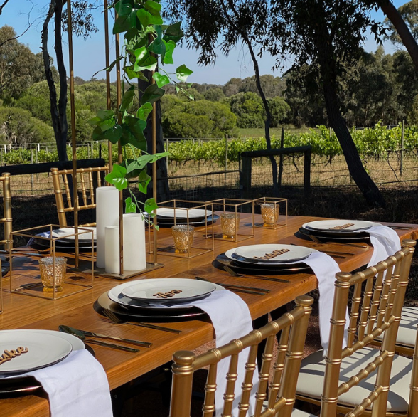 Wooden Table Hire Perth